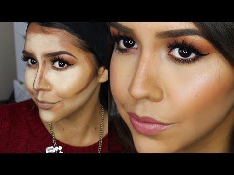 Como Hacer Cirugia Plastica con Maquillaje - Como Contornear el Rostro Ydelays - YouTube