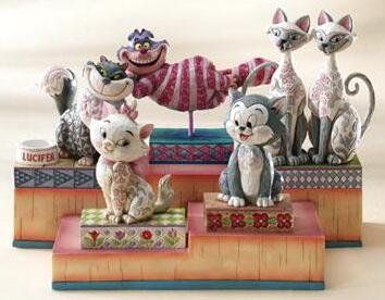 Jim Shore Disney cats . . .I have Si and Am. Would LOVE to have the rest, especially Lucifer,