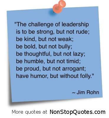 The challenge of leadership...