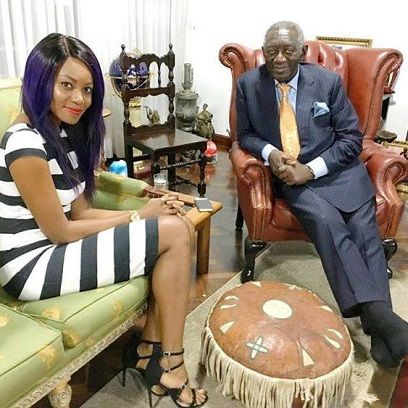 Yvonne Nelsons memorable shot with former President J.A Kufuor   Celebrated Ghanaian actress Yvonne Nelson has shared an eye catching photograph with former President John Agyekum Kufuor from her latest Instagram post. The actress paid a courtesy call on the former president of the Republic of Ghana His Excellency John Agyekum Kufuor at his residence in Accra. Yvonne posted on her official Instagram page with a simple caption Mr. President but did not give further details about the visit…