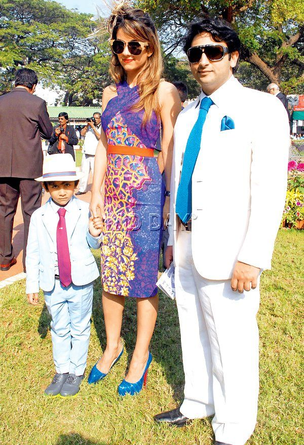 Natasha and Adar Poonawalla, son at Mid-Day Trophy. #Page3 #Fashion #Style #Beauty