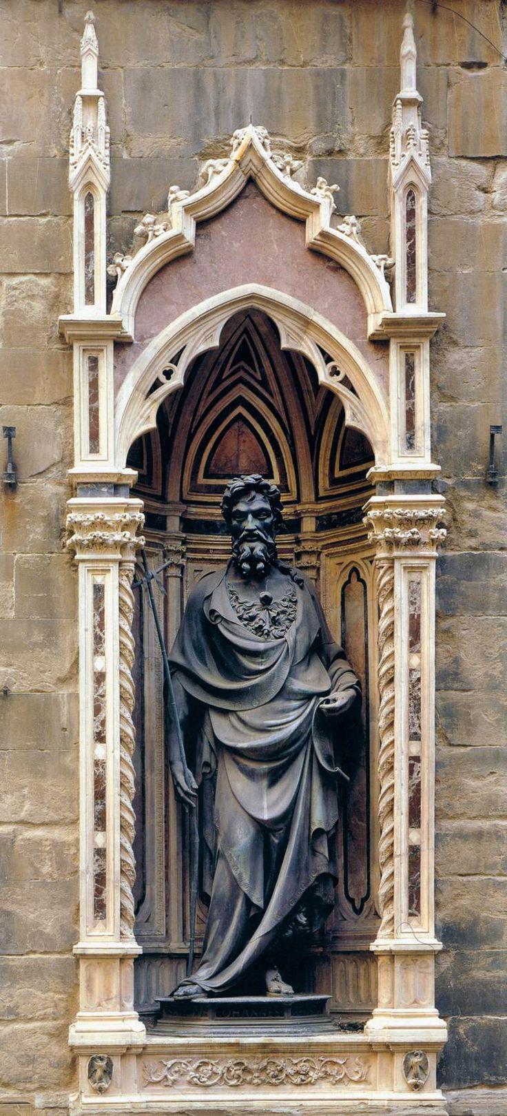St. John the Baptist 1412-16 | Bronze, height 254 cm | Orsanmichele, Florence | Lorenzo Ghiberti