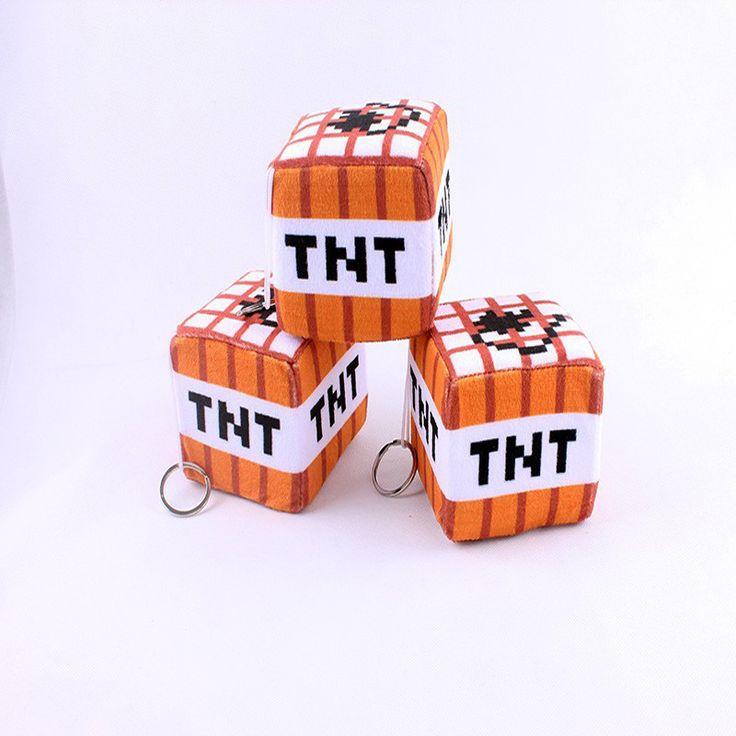 Minecraft TNT Key Chain Plush Toy - free shipping worldwide