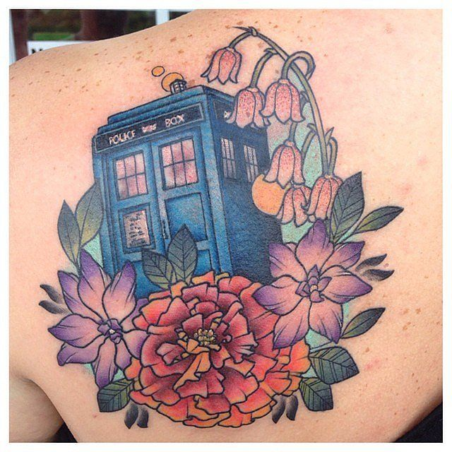 Doctor Who TARDIS tattoo