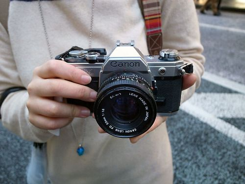 Ginza Canon AE-1 with 50mm f1.8 FD lens A wonderful basic SLR- I wonder how many people over the years and around the world had one as their...