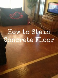 Cómo manchar un piso de concreto