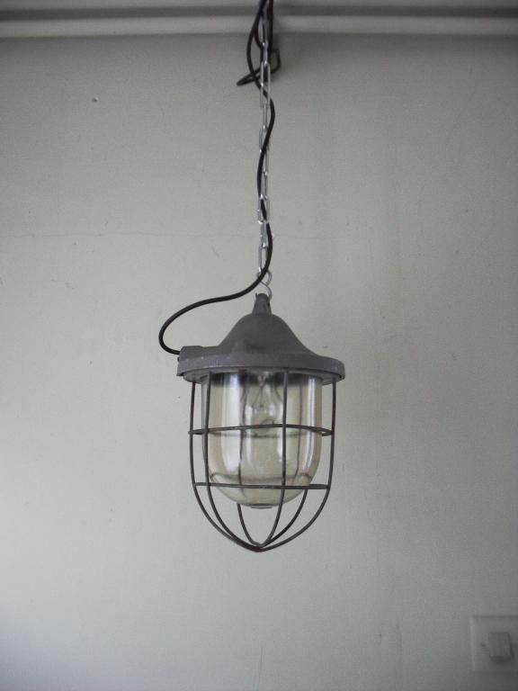 Stara Lampa Przemysłowa Wisząca Energetyka Sopot My