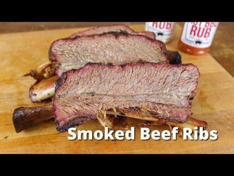 """Smoked Beef Ribs - Big """"Dino Bone"""" Beef Rib Recipe"""