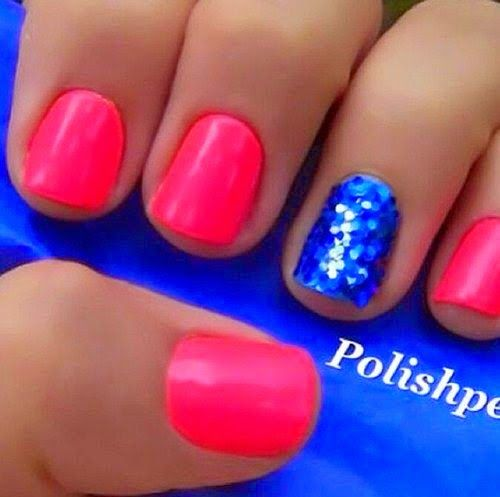 pink Summer Nail Art Desings for 2015