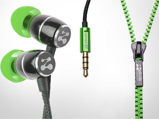 Tangle-Free Zipper Earphones.