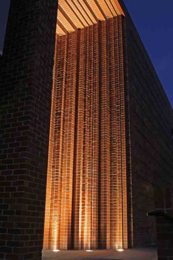 North Melbourne Recreation Reserve, brick detail :: Williams Ross Architects