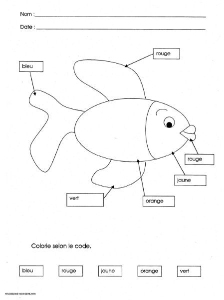 coloriage poisson