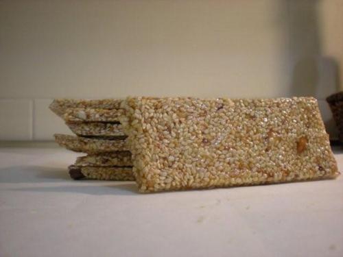Croccante al sesamo Malto di riso al posto del miele e zucchero bianco bio