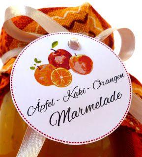 Apfel-Kaki-Orangen Marmelade
