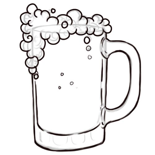 One Line Art Beer : How to draw beer mug my inspirations for royal icing