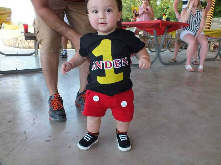 1st Birthday Mickey Mouse Outfit