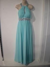 Miss Anne 211548  Light blue, cyan, mid length evening, formal dress