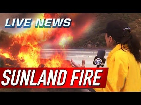 BREAKING NEWS: 210 FREEWAY BRUSH FIRE - SUN VALLEY, TUJUNGA, NEWS LIVE !!! La Tuna Canyon Road (Sept 1, 2017 between 210 & I-5 Fwys) - YouTube