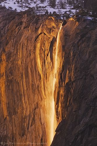 Liquid Sunshine - Horsetail Falls, Yosemite National Park, Calif