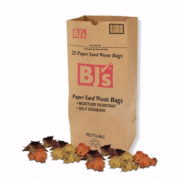 30-Gallon Yard Waste Lawn and Leaf Paper Bags 25 count pack #BJs