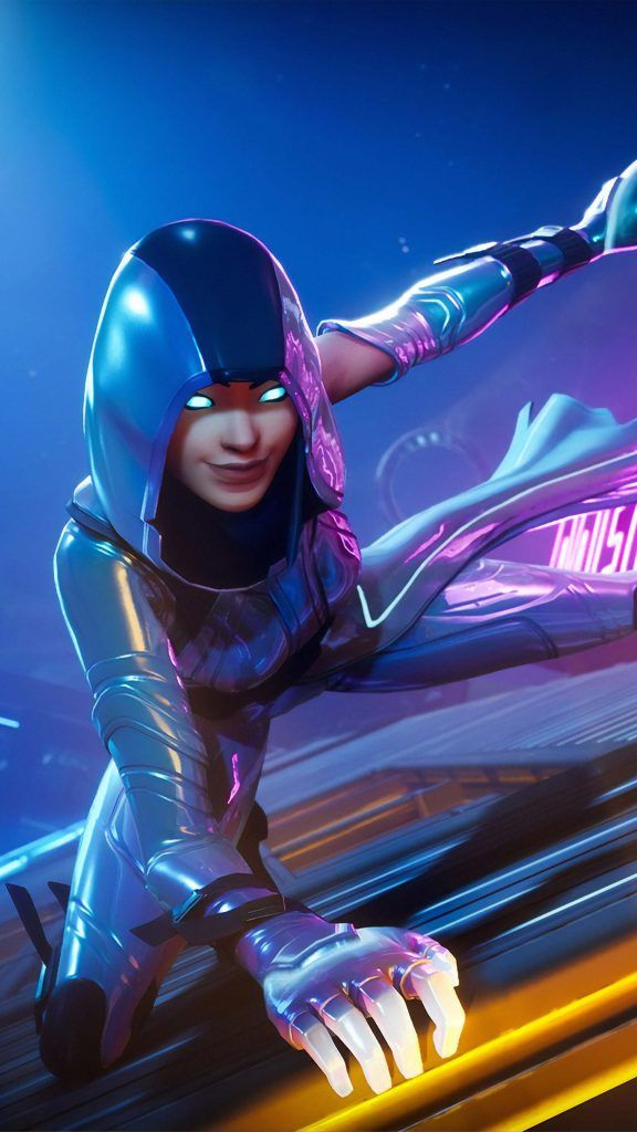 Neon Glow Skin Fortnite 4k Ultra Hd Mobile Wallpaper With Images