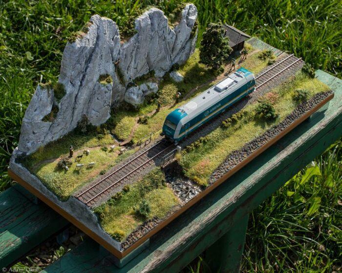 Railway diorama