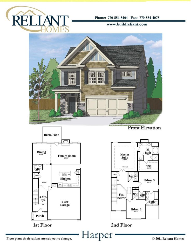 Reliant homes the harper plan floor plans homes for H and h homes floor plans