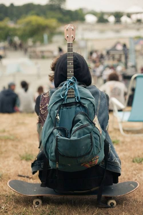 guitar and old #backpacks