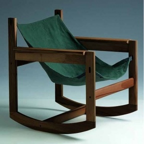 // Pelicano Rocking Chair- Dark green