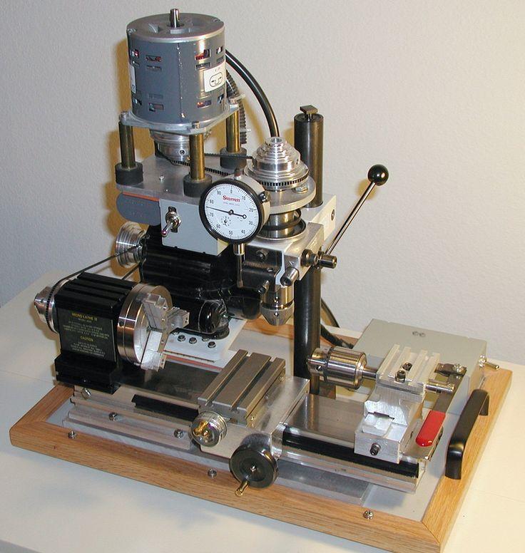 Zenfolio | PrecisionWorkshop.com | Taig Micro Lathe Wow...a Frankenstein Taig/Unimat mix...drool.