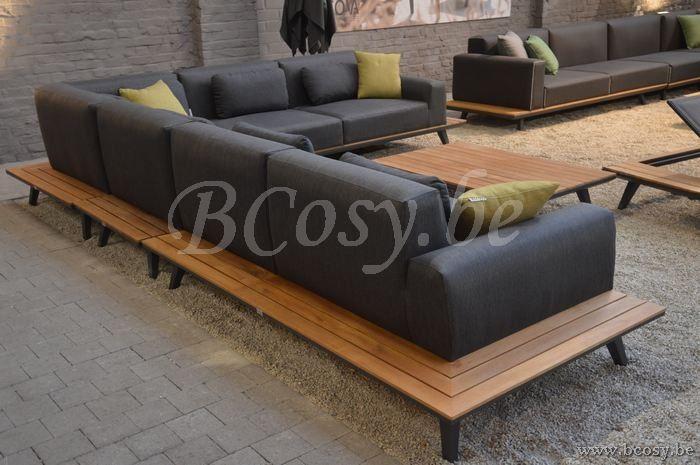 Gescova Dimaro Lounge Set Alu Modulaire Charcoal Aluminium Lounge Set Massieve Teak Planchetten 310x390 Dimarro Salons Meuble Mobilier Meuble Jardin