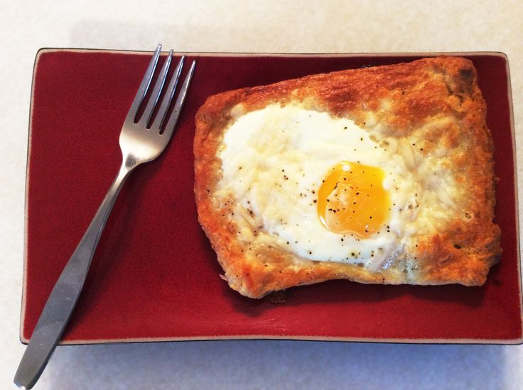 Crescent roll with egg. Such a great breakfast