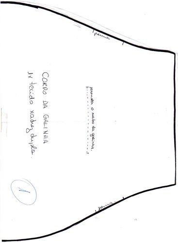 Moldes Para Artesanato em Tecido: Galinha Puxa Saco vermelha 2/6