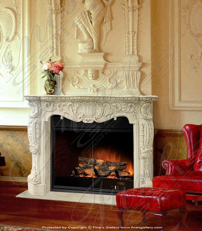 bourguignon marble fireplace surround in antiques u0026 garden fireplaces u0026 mantels