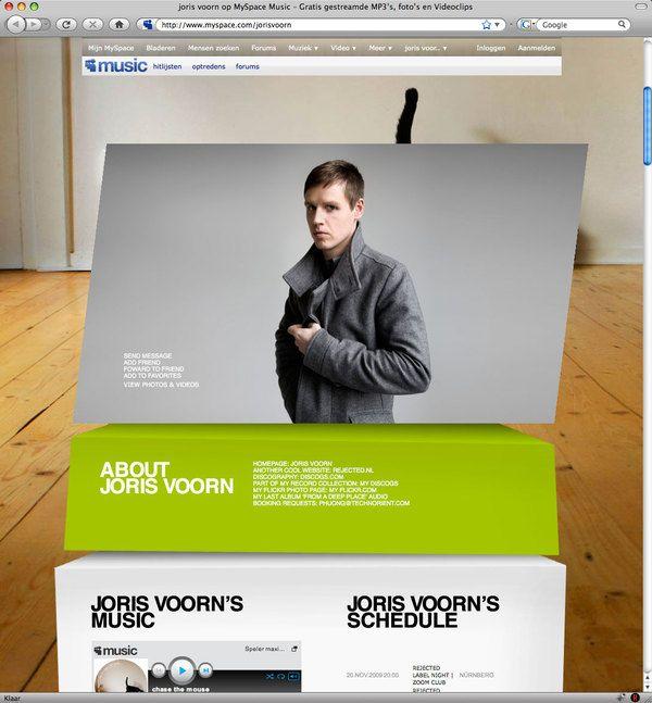 Myspace Artist Profile Modifications | Designer: Christoph Voorn