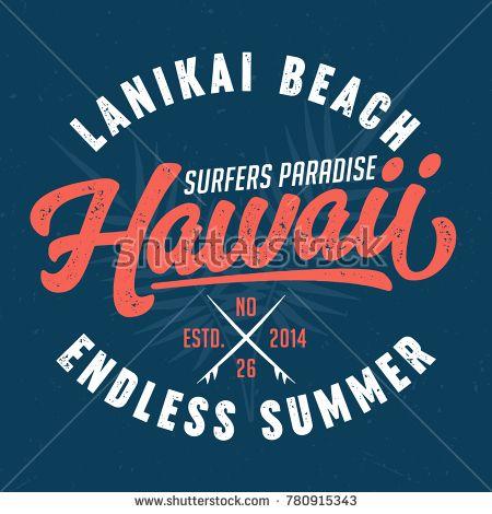 Hawaii, Surfers Paradise - Tee Design For Print