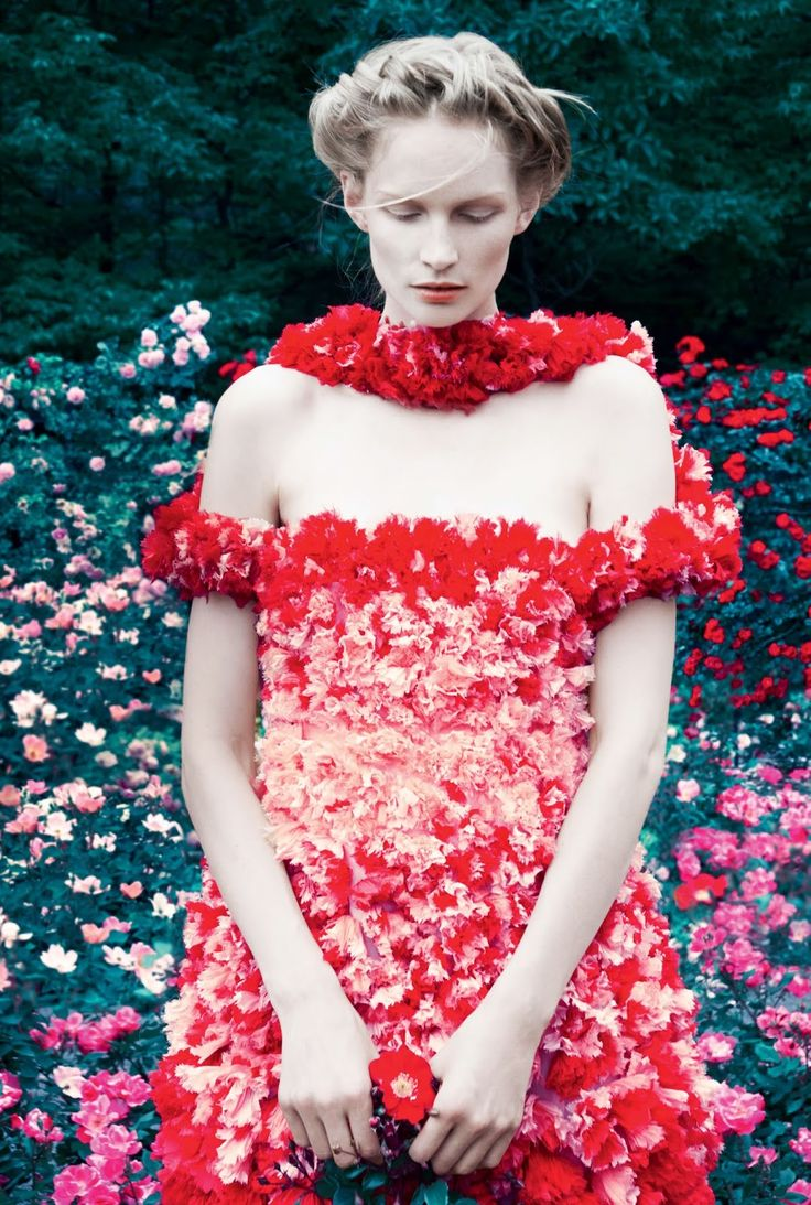 visual optimism; fashion editorials, shows, campaigns & more!: into the woods: katrin thormann by erik madigan heck for uk harper's bazaar september 2014