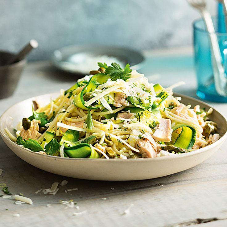 How to make Spaghetti With Ricotta, Lemon & Tuna #Spaghetti #Pasta #Ricotta #Lemon #Tuna #Summer #Recipe