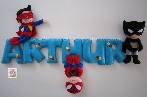 ♥♥♥ Para o quartinho do Arthur, junto com o mobile anterior...