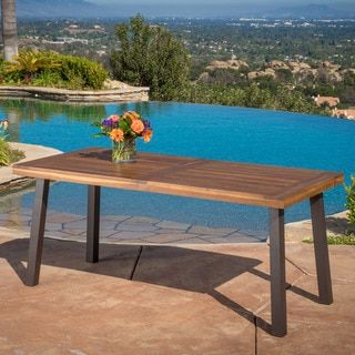 Shop for Sparta Acacia Wood Rectangle Dining Table by Christopher Knight Home. Get free shipping at Overstock.com - Your Online Furniture Outlet Store! Get 5% in rewards with Club O! - 18849262