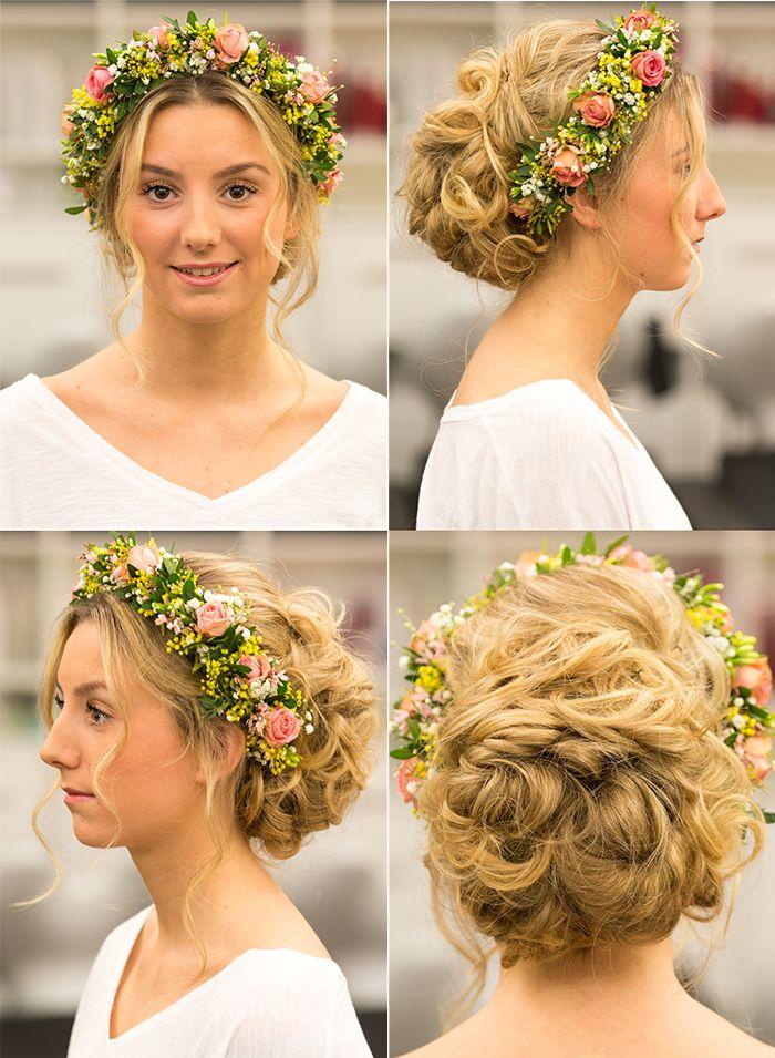 Hippie-Braut mit Blumenkranz Made by Lisa. Weddingtrend Hair&Beauty Hagemann // Friseur Bonn