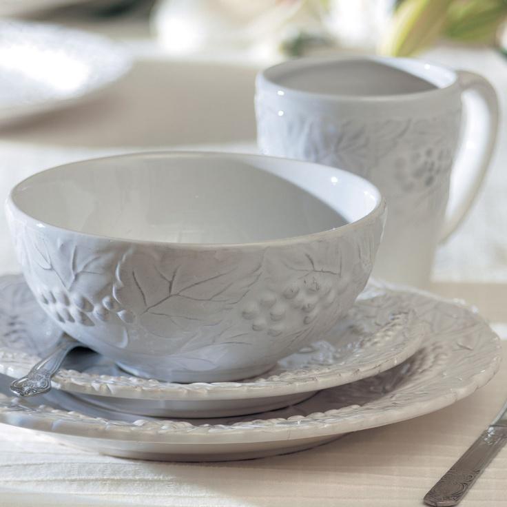 Found it at Wayfair - Bianca 16 Piece Grapevine Dinnerware Set & 11 best White Dinnerware images on Pinterest | White dinnerware ...
