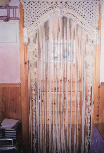 //Macramé is making a comeback. 1970's style room divider.