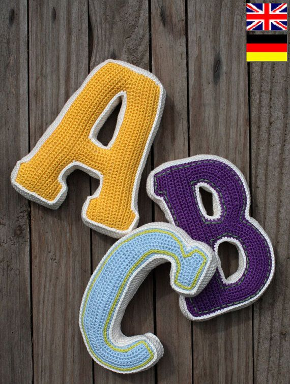 3D Buchstaben häkeln Muster PDF Muster für einen von CAROcreated