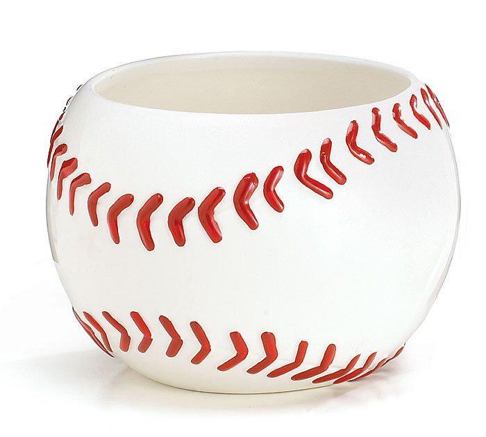 2 Baseball Planters Party Centerpiece Containers Ideal for Planting Flowers or Creating Sports Party Centerpieces by flowerfilledweddings on Etsy https://www.etsy.com/listing/385759014/2-baseball-planters-party-centerpiece