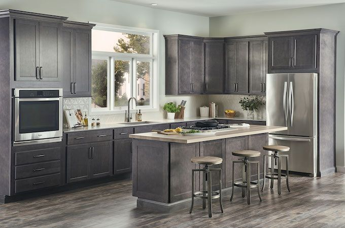 Check Out These Dark Kitchen Cabinets By Wolf Kitchen Design