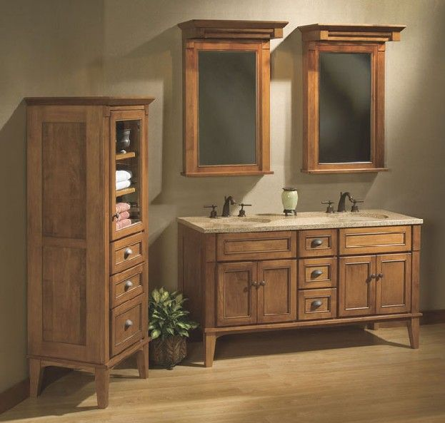 Traditional Vanities Vintage Bow Front Corner Furniture Style