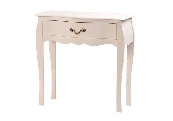 Table de chevet / nuit baroque blanche 1 tiroir 76 cm Louisa