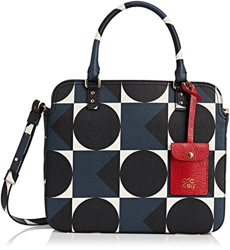 Womens Work Bag Messenger Bag Multicolour (Charcoal Blue) Orla Kiely UMtNC7iHwP