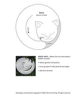 ★ Mama Cat Has Three Kittens activities at www.DeniseFleming.com: Paper Plate Boris ★